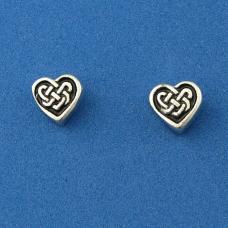 Celtic Knot Heart Stud